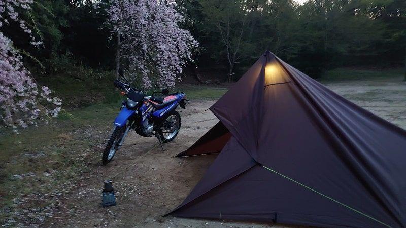 XTZ125 キャンプ
