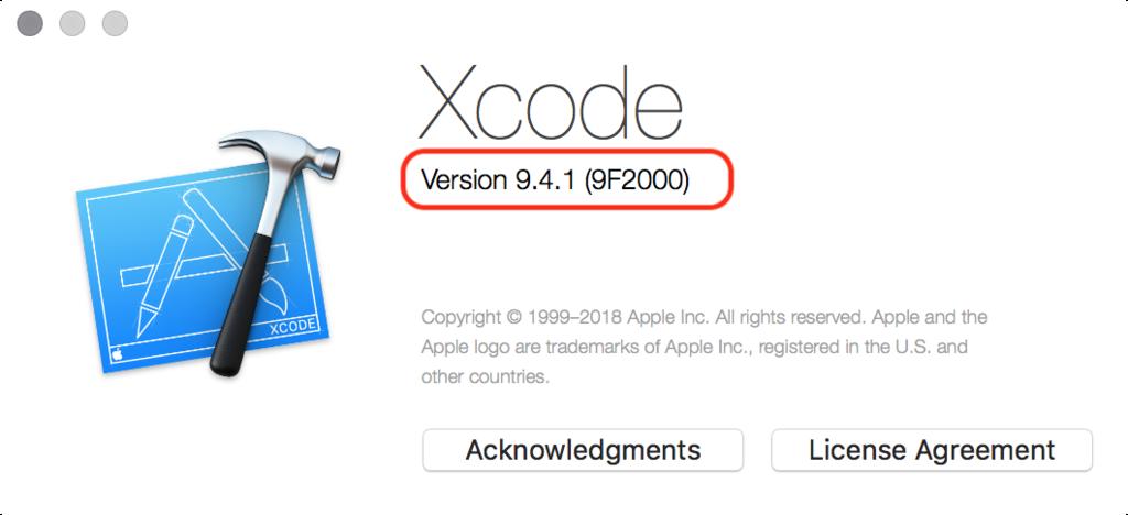 Xcodeのバージョンを確認する