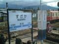 長野電鉄須坂駅、2001年11月訪問(1)