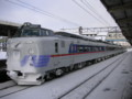 781系電車、L特急ライラック、uシート、滝川駅、増結6両編成