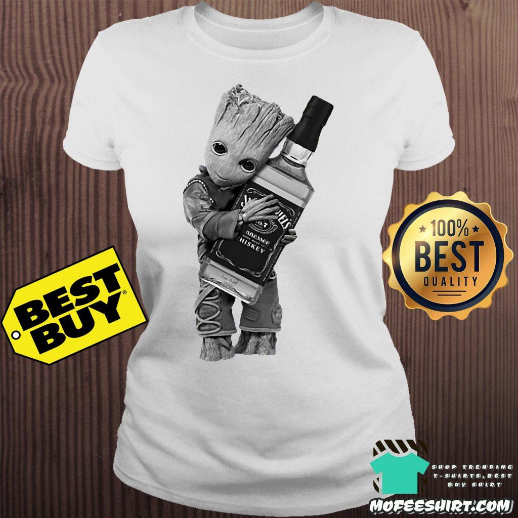 bf0858285 Baby Groot hug Jack Daniel's tennessee whiskey shirt - mofeeshirt's ...