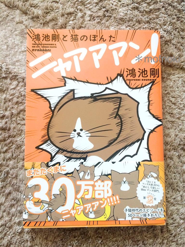 鴻池剛と猫のぽんた ニャアアアン!表紙