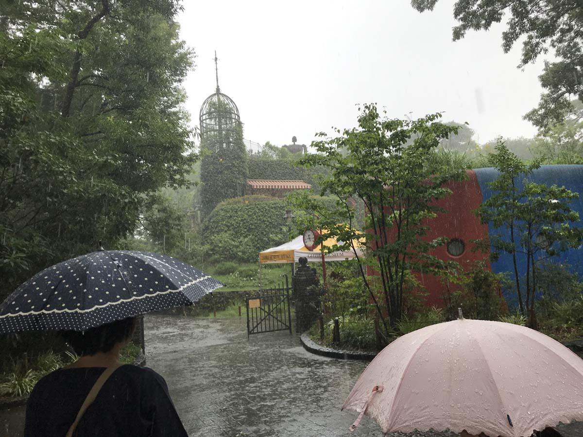 土砂降りのジブリ美術館