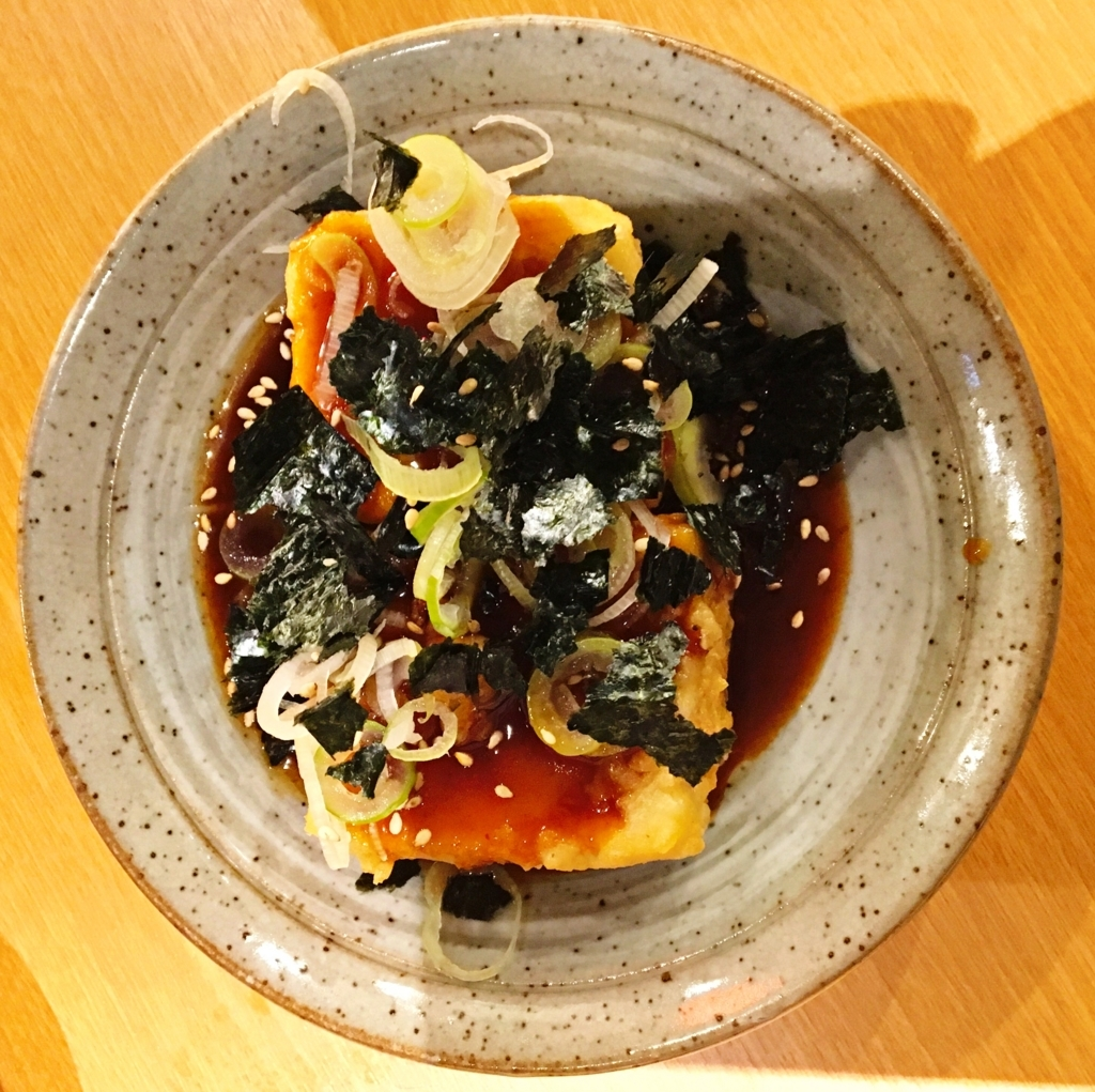 あげ豆腐のステーキ