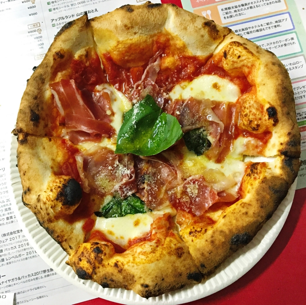プロシュートマルゲリータピザ