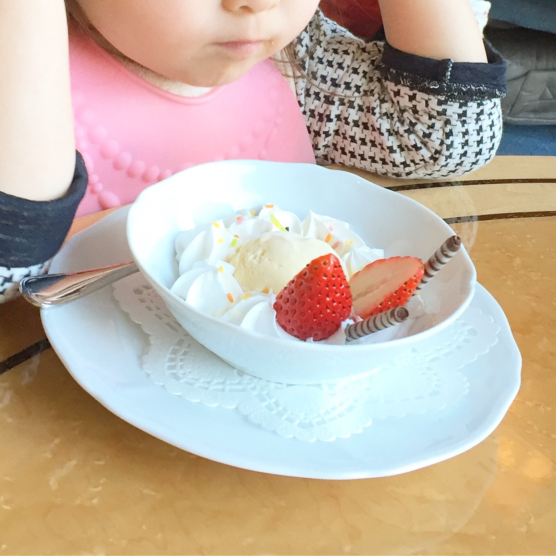 椿山荘の子連れランチアイスクリーム
