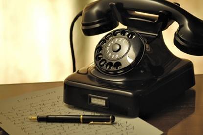 黒電話は番号表示されないよ