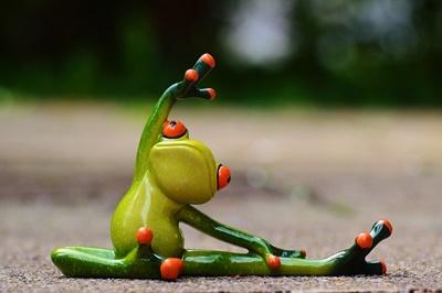 蛙ストレッチ