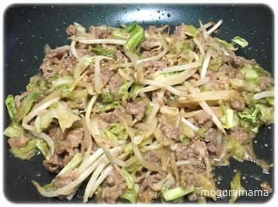 牛肉ときゃべつの甘みそ炒め
