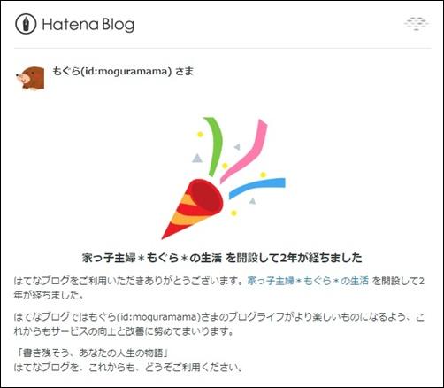 ブログ開設2年