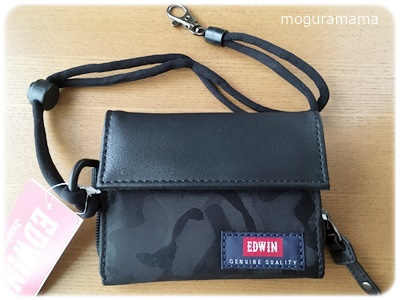 【キッズ財布】EDWIN(エドウィン)ブラック迷彩柄