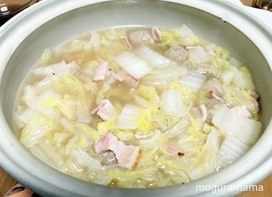 白菜とベーコンのお鍋