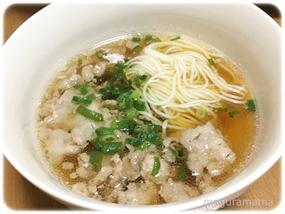 豚こま生姜のつけ素麺