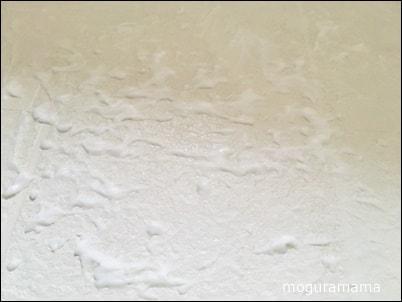 浴室の床の黒ずみ 重曹ペースト