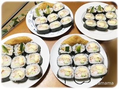 巻き寿司といなり