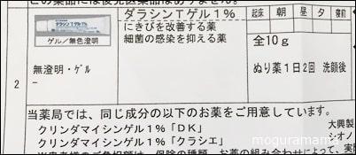 にきび ダラシンTゲル1%