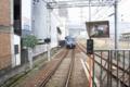 京阪石山駅でラッピング電車を降りた