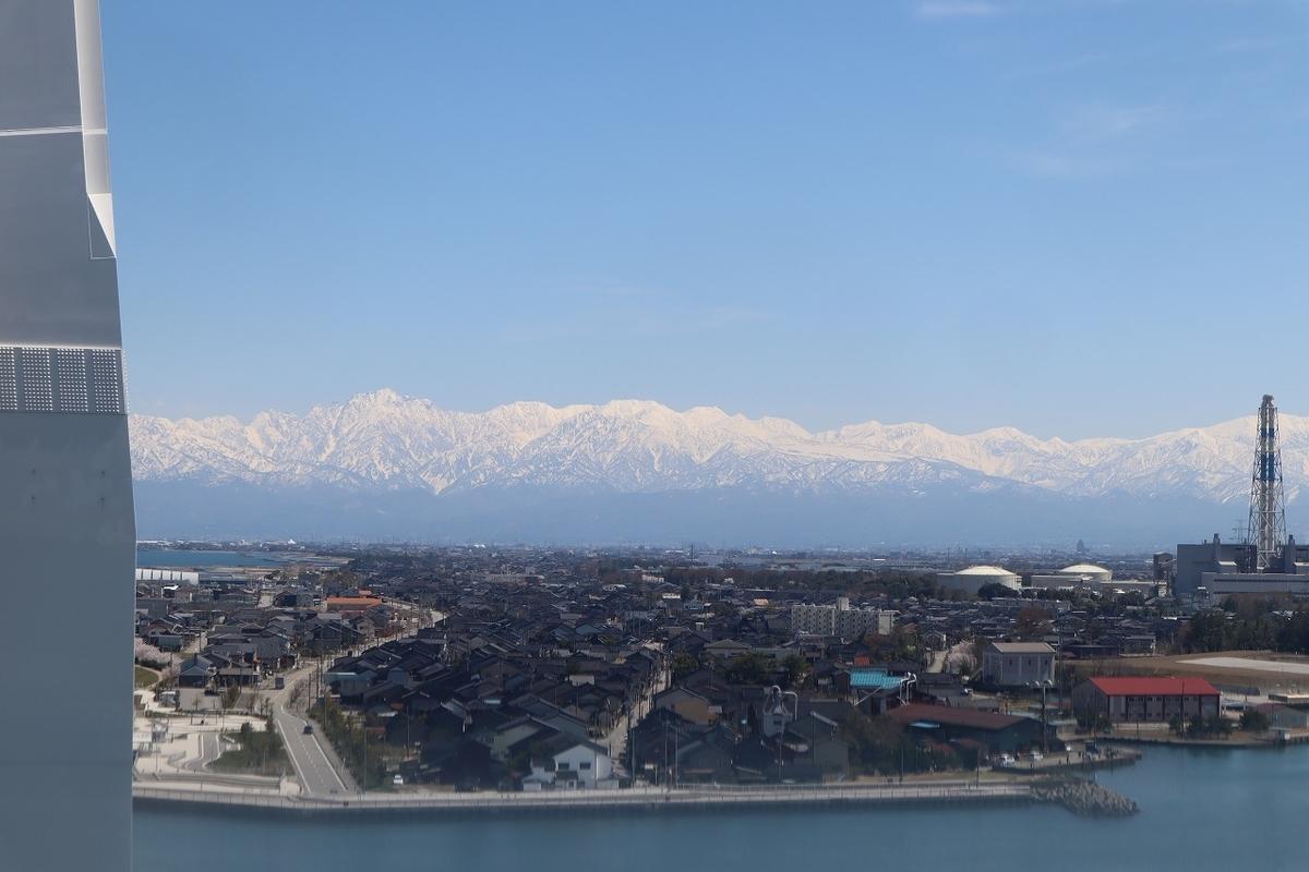 新湊大橋から見た立山連峰