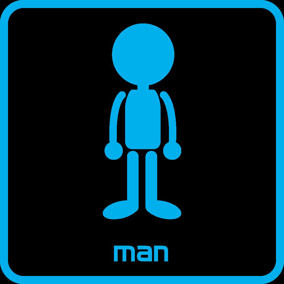 ピクトグラム:トイレ/男性用