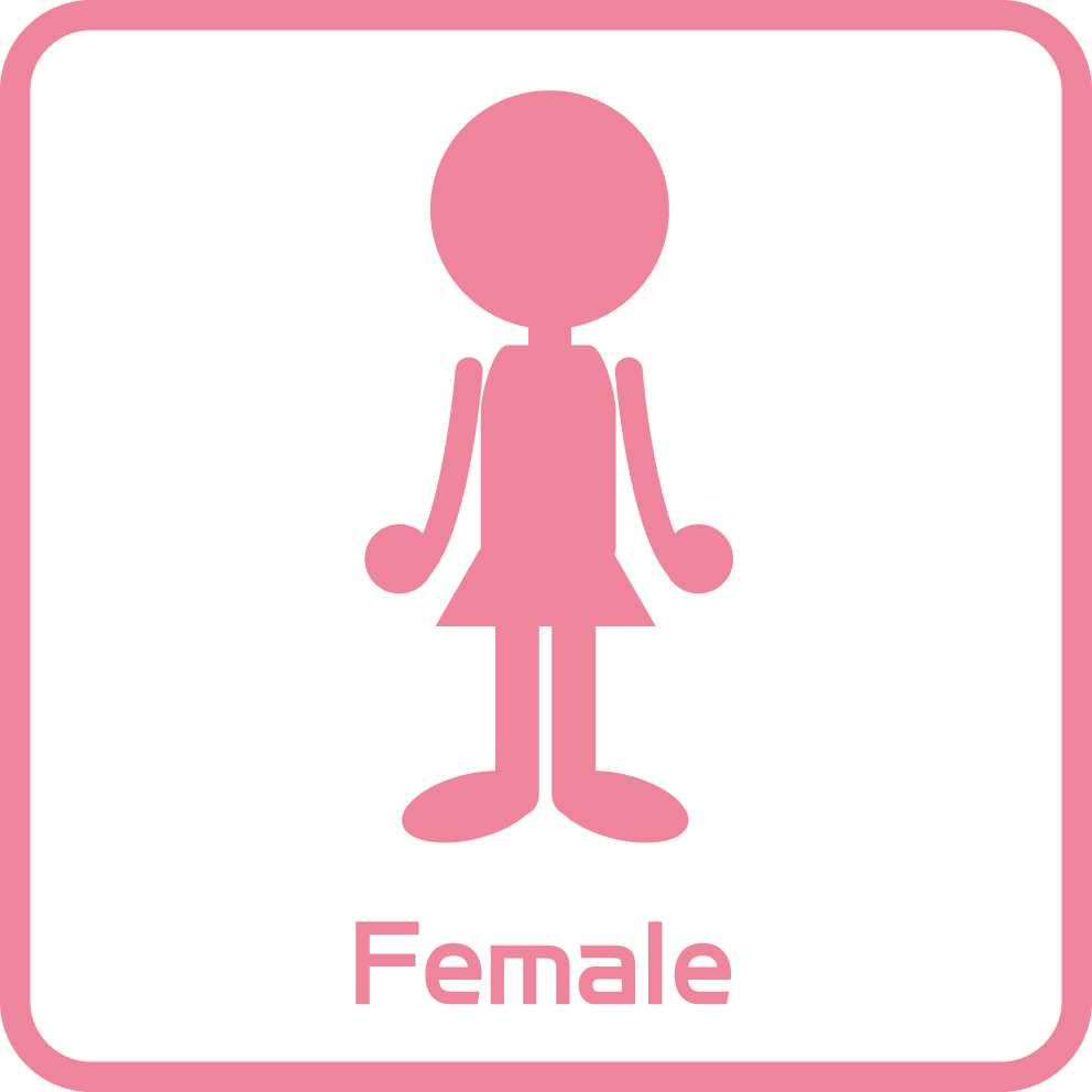 ピクトグラム:トイレ/女性用