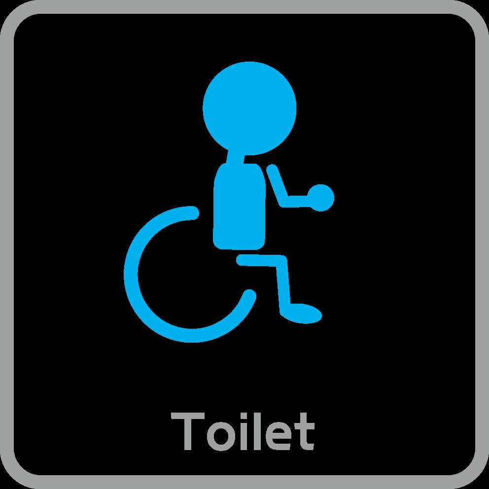ピクトグラム:トイレ/障害者用