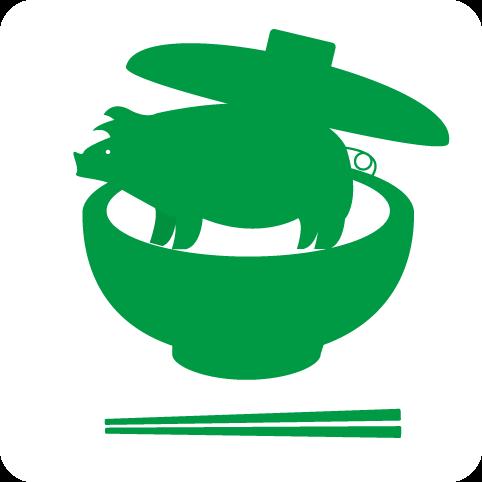 フリー素材:ピクト「豚丼」