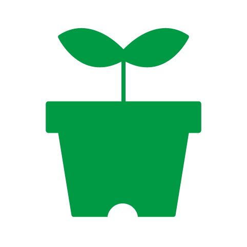 フリー素材:ピクト「植木鉢」