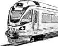 [ラクガキ][鉄道]RhB ABe8/12Allegraっぽい