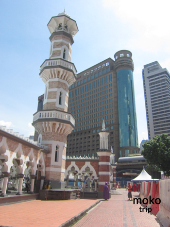 マスジット・ジャメ(Masjid Jamek) モスク(mosque)柱廊