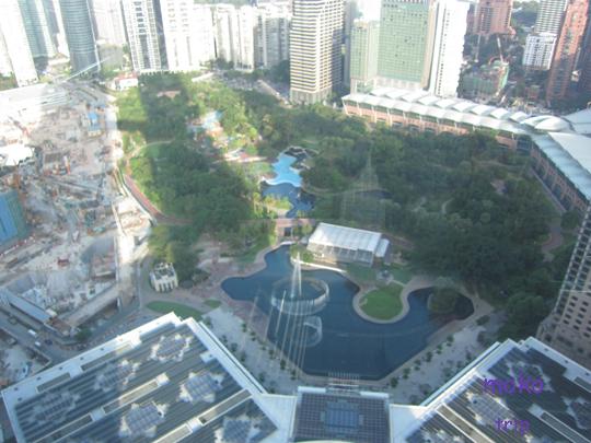 ペトロナス・ツイン・タワーから見た景色