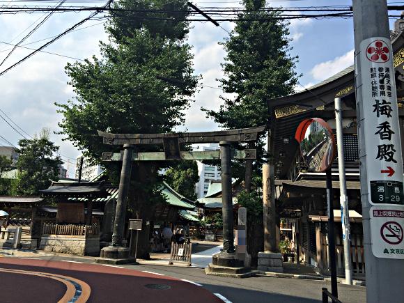 湯島天満宮 銅鳥居 東京都指定有形文化財