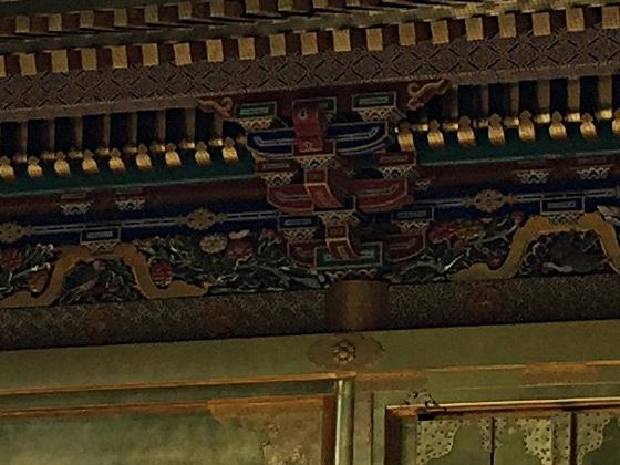 上野東照宮 屋根内側装飾