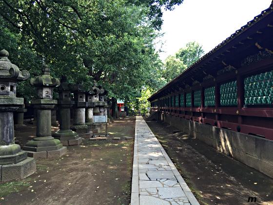 上野東照宮 社殿への脇道