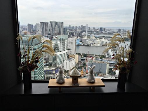 東京 世界貿易センタービル展望台 お月見ディスプレイ