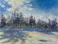 雪野原と雲・1月