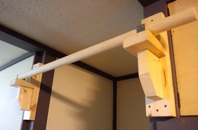 2×4材で自作した懸垂バー