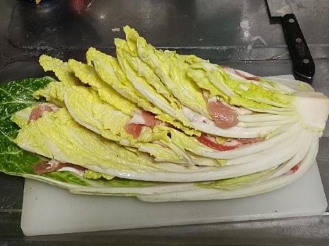 白菜と豚バラ肉のミルフィーユ焼