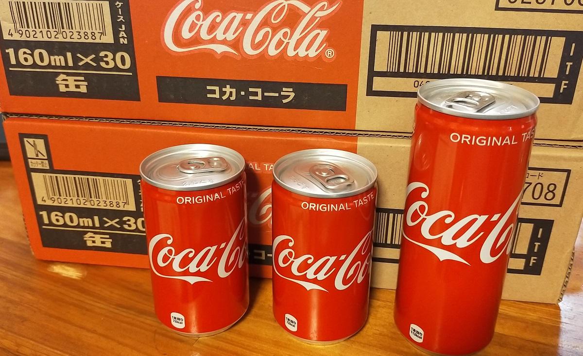 コーラの160mlチビ缶