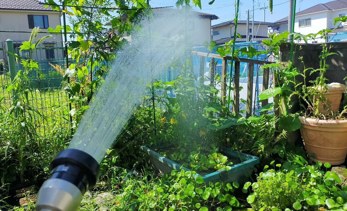 水道水で足し水