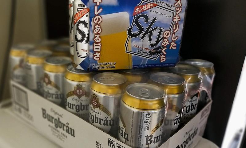 業務スーパーのローアルビールとノンアルビール