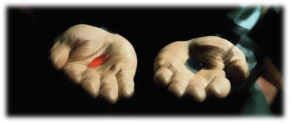 赤と青のカプセル