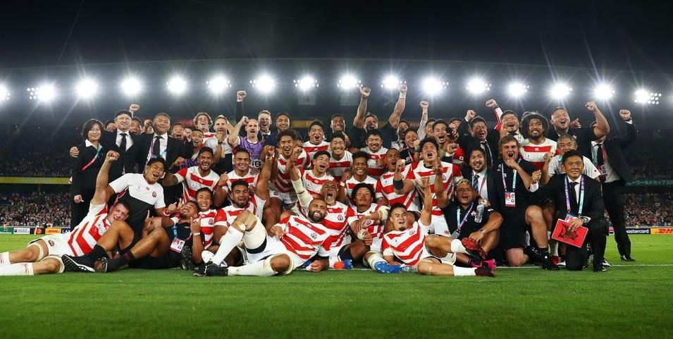 日本決勝トーナメント進出/画像出典:RWC日本公式HP