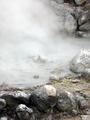 [九州]大叫喚地獄から熱湯が湧き上がる