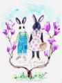 ふきちゃんとモナカ(画:flemyさん)