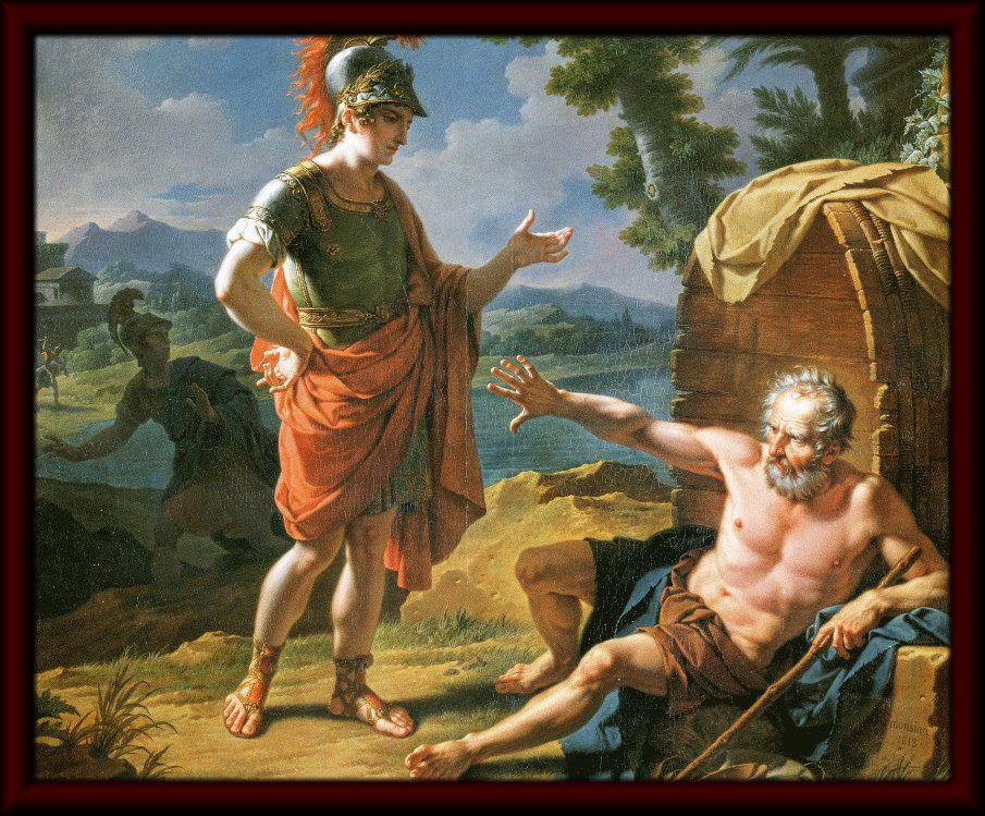 アレクサンドロスとディオゲネス