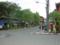 バス停を西側から見る