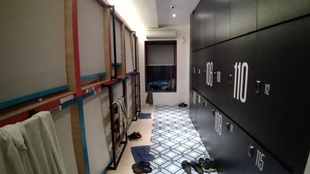 ボロウカプセルホステルの部屋の写真