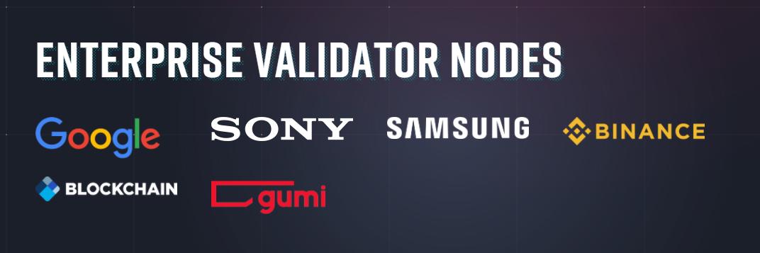 企業によるValidatorノード