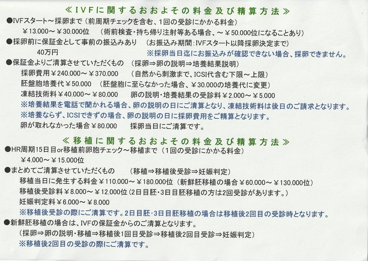 虹クリニック料金表4