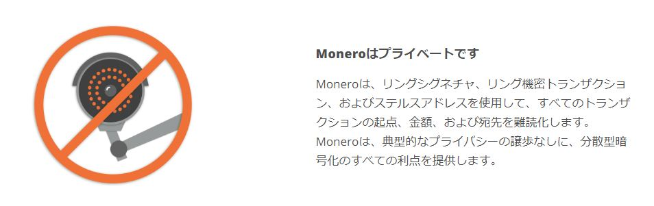 Moneroの匿名性の説明イラスト